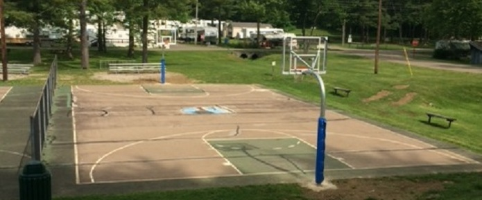 New basketball hoops at Tappan Lake Park